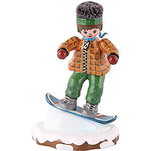 Kleine Figuren & Miniaturen Hubrig Winterkinder Winterkinder Snowboardfahrer - 8cm