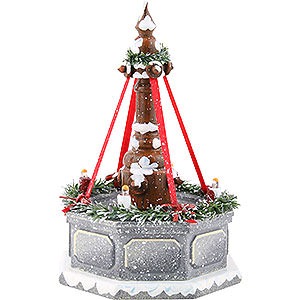 Kleine Figuren & Miniaturen Hubrig Winterkinder Winterkinder Stadtbrunnen, elektrisch beleuchtet - 12 cm