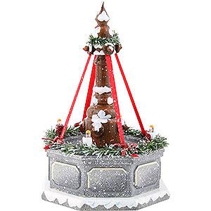 Kleine Figuren & Miniaturen Hubrig Winterkinder Winterkinder Stadtbrunnen, elektrisch beleuchtet - 12cm
