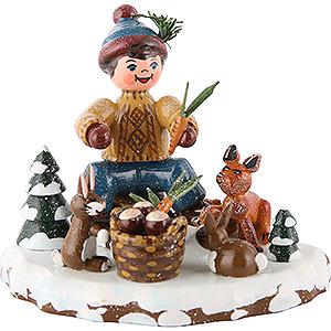 Kleine Figuren & Miniaturen Hubrig Winterkinder Winterkinder Tiere des Waldes - 7 cm