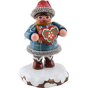 Kleine Figuren & Miniaturen Hubrig Winterkinder Winterkinder Tinchens Lebkuchenherz - 5cm