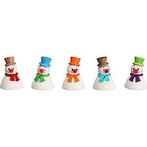 Kleine Figuren & Miniaturen alles Andere Wippel Schneemänner Klassik, 5er Satz - 4 cm