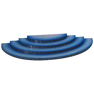 Weihnachtsengel Engel - blaue Flügel - klein Wolke - 4-stufig - blau - 43x20x4 cm