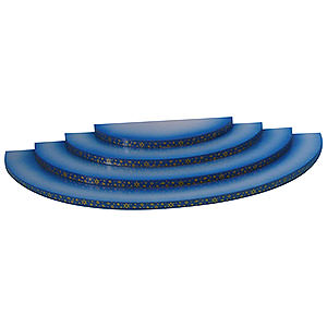 Weihnachtsengel Engel - blaue Fl�gel - klein Wolke - 4-stufig - blau - 43x20x4cm
