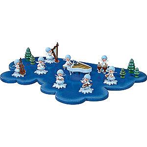 Kleine Figuren & Miniaturen Kuhnert Schneeflöckchen Wolke für Schneeflöckchen 1 Etage groß - 43x28cm
