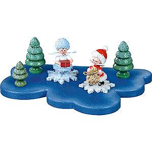 Kleine Figuren & Miniaturen Kuhnert Schneeflöckchen Wolke für Schneeflöckchen 1 Etage klein - 18x11 cm