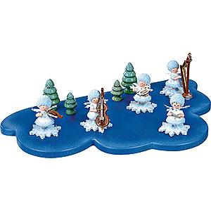 Kleine Figuren & Miniaturen Kuhnert Schneeflöckchen Wolke für Schneeflöckchen 1 Etage mittel - 30x19 cm