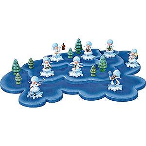 Kleine Figuren & Miniaturen Kuhnert Schneeflöckchen Wolke für Schneeflöckchen 3 Etagen - 43x28cm