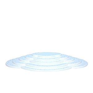 Weihnachtsengel Engelswolken/Zubehör Wolke weiß 5tlg. - B 52,5 cm