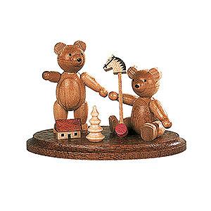 Kleine Figuren & Miniaturen Tiere Bären Zwei spielende Bärenkinder - 4 cm