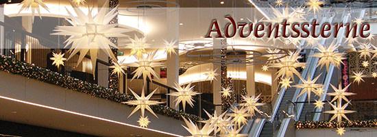 Adventssterne und Weihnachtssterne
